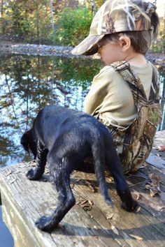 A boy and his lab <3