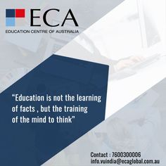You have an opportunity to access and attain globally recognized qualifications at an affordable cost. We provide flexible and unique #pathwayprograms for students to study at top-ranking universities through our International University Pathway Program in #Australia    Enrolment Now Open for :-  English for Academic purposes & General English Diploma of IT Graduate Certificate & Graduate Diploma in Business Management    #ECA #studyopportunity #studyinabroad #australiauniversity…
