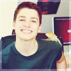 Finn Harries and Sid the lizard!!!!