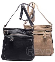 crossbody hand bag with adjustable straps in black or stone ($38.50)