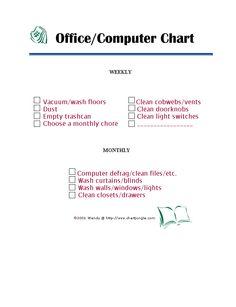 office & computer chore check list