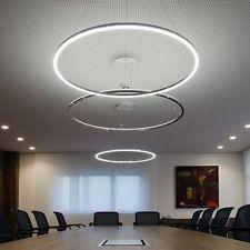 Modern LED Acrylic Round Pendant Chandelier Ceiling Lamp Lighting Light Fixture