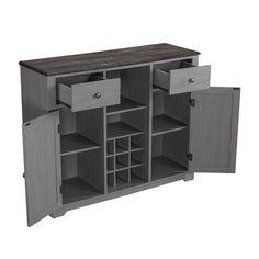 Bar Storage Cabinet, Wood Bar Cabinet, Dining Room Storage, Locker Storage, Coffee Cabinet, Wine Glass Storage, Wine Rack Plans, Built In Wine Rack