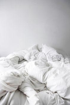 bed linens...natural fibre...tossled +++