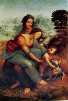 L'Ultimo Capolavoro di Leonardo da Vinci,Sant'Anna,la Vergine e il Bambino con l'agnello  Museo del Louvre