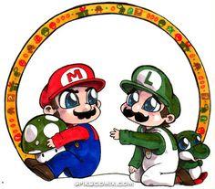 Chibi Mario and Luigi by spikecomix.deviantart.com on @DeviantArt