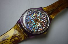 Vintage SWATCH watch. Love this stained glass window. I have this!