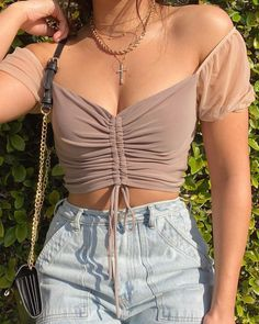 Teen Fashion Outfits, Mode Outfits, Girly Outfits, Cute Casual Outfits, Look Fashion, Street Fashion, Stylish Outfits, Mode Ootd, Crop Top Outfits