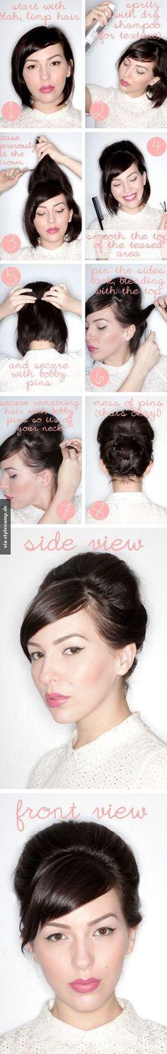 DIE Hochsteckfrisur für kurze Haare!