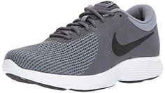 Find Nike Men's Revolution 4 Running Shoe, Dark Grey/Black-Cool Grey/White, 10 Regular US online. Shop the latest collection of Nike Men's Revolution 4 Running Shoe, Dark Grey/Black-Cool Grey/White, 10 Regular US from the popular stores - all in one Grey And White, All Black, Dark Grey, New Shoes, Men's Shoes, Shoes Sneakers, Shoes Style, Shoes Men, Boys Shoes