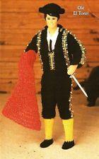 X171 Crochet PATTERN ONLY Male Fashion Doll Matador Outfit Suit Pattern Ken