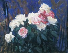 Roses    -   Leon Wyczółkowski  Polish  1852-1936  Oil on canvas