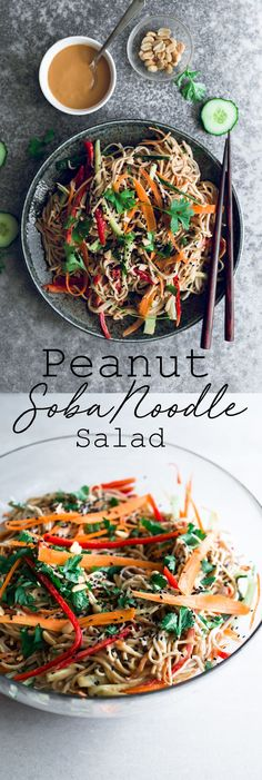 delicious and healthy Vegan Peanut Soba Noodle Salad Recipe. Soba Noodles and A delicious and healthy Vegan Peanut Soba Noodle Salad Recipe. Soba Noodles and . -A delicious and healthy Vegan Peanut Soba Noodle Salad Recipe. Soba Noodles and . Whole Foods, Whole Food Recipes, Cheap Clean Eating, Clean Eating Snacks, Eating Habits, Fideos Soba, Asia Food, Vegetarian Recipes, Healthy Recipes
