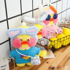 Kawaii Clothes, Doll Clothes, Mochi, Duck Toy, Cute Outfits For School, Cute Dolls, Plush Dolls, Animals For Kids, Plushies