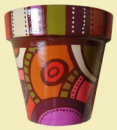 ROMALA: Macetas Pintadas Decorated Flower Pots, Painted Flower Pots, Painted Pots, Ceramic Pots, Terracotta Pots, Clay Pots, Pottery Painting, Ceramic Painting, Diy Painting