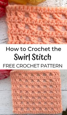 How to Crochet the Swirl Stitch Free Pattern & Tutorial for the Swirl Stitch! Learn a Beautiful lace crochet stitch. This stitch pattern is fun and easy to learn. Crochet Video, Crochet Instructions, Crochet Basics, Free Crochet, Crochet Stitch Tutorial, Crochet Scarf Easy, Crochet Lace, Crochet Stitches Patterns, Knitting Stitches