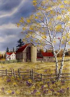 Autumn Farmstead ~ by Kathy Glasnap