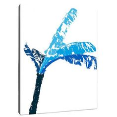"""SafiyaJamila Island Life I Graphic Art on Wrapped Canvas in Blue Size: 14"""" H x 11"""" W x 1.5"""" D"""