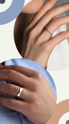Matching wedding rings. His and hers wedding bands.