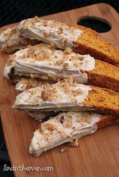 Pumpkin Gingerbread Biscotti - Lovin' From The Oven #pumpkin #cookie #recipe