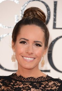 Louise Roe Prim Ballet Bun Updo - 2013 Golden Globe Awards Hairstyles