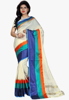 Multicolor Cotton Blend Saree
