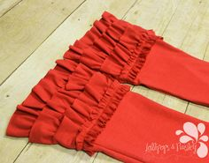 Knit Ring of Ruffles Pants Leggings Solid Color Options Custom Made to Order USA Layer Back to School Red Gray Charcoal 2 3 4 5 6 7 8 10 12 by LollipopsPaisley on Etsy