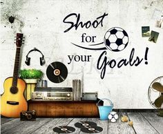 【楽天市場】silkyroom/【Shoot for your goals】ウォールステッカー ウォール ステッカー ポスター シール 北欧 はがせる 壁紙 壁シール サッカー/ボール/文字/英文/英文字到着後レビューを書いて送料無料(ゆうメール限り)展示会装飾:シルキー
