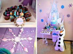 Frozen Party, love Elsa's ice castle backdrop