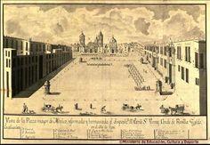 Ciudad de México a principios del siglo XX | la plaza mayor de la ciudad de mexico en el ano de 1793. Reformada Virrey Conde de Revilla