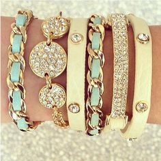 Bracelets- love the first and fourth bracelets