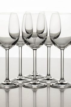 wine glasses in the studio