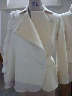 - draping,  - avant-garde  -deconstruction and dart manipulation