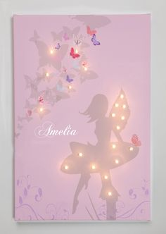Personalised Light Up Fairy Illuminated Canvas - From £57.95