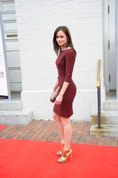 THAT DRESS (not the shoes though. Maybe swap them for some black strappies)    Alexis Bledel