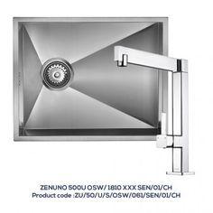 ZENUNO 500 OSW Single Bowl Sink with 1810XXX Chrome Kitchen Tap