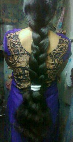 Long Silky Hair, Super Long Hair, Beautiful Braids, Beautiful Long Hair, Bun Hairstyles For Long Hair, Braided Hairstyles, Indian Long Hair Braid, Cut My Hair, Braids For Long Hair
