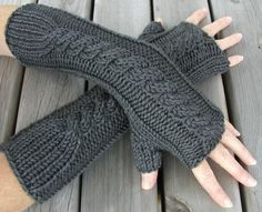 Whit's Knits: Ribbed Hand Warmers - Knitting Crochet Sewing Crafts