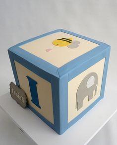 Baby block cake.
