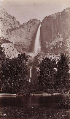 GEORGE FISKE  1835 - 1918 Yosemite Falls. 2634 feet. ca. 1880