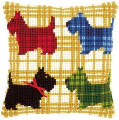 Scottie Dogs Chunky Cross Stitch - Vervaco