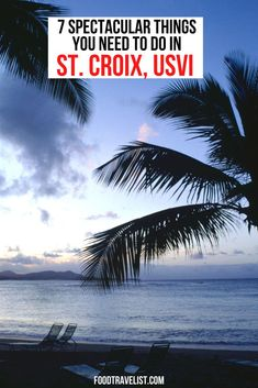 When you're travel planning and want to find a place with quiet beaches, lots of water activities, a rain forest, and all the great local food don't miss St. Croix in the U.S. Virgin Islands. If you're coming from the U.S. you don't even need a passport!  #StCroix #USVI #TravelTips