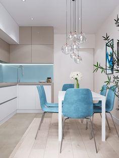 Kitchen Room Design, Modern Kitchen Design, Flat Interior, Interior Design, Kitchen Furniture, Furniture Design, Design Apartment, New Kitchen Cabinets, Cool Beds