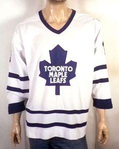 373e33628 vtg Starter euc Toronto Maple Leafs SEWN Mats Sundin NHL Hockey Jersey  Adult M Nhl Hockey