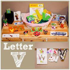 Home #Preschool Letter V