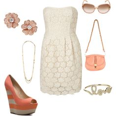 a touch of coral, created by amgranger on Polyvore
