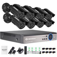 HDMI Outdoor camera Surveillance CCTV hybrid DVR Kit Home Security Network Video Recorder System - Security & Protection/Video Surveillance Home Video Surveillance, Security Surveillance, Security Alarm, Surveillance System, Camera Surveillance, Mobile Security, Dvr Security System, Wireless Home Security Systems, Video Security