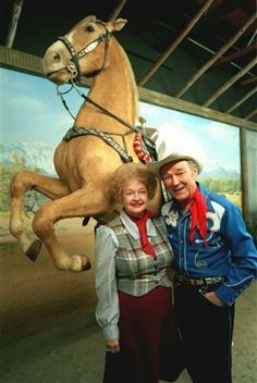 Roy Rodgers & Dale Evans ..and Trigger   A wonderful couple, did so much good for people all of their lives.