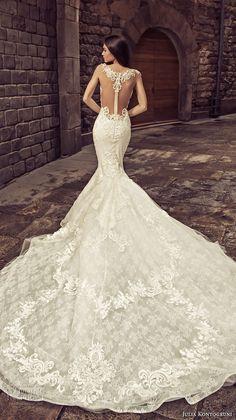 julia kontogruni 2018 bridal cap sleeves sweetheart neckline heavily embellished bodice elegant mermaid wedding dress sheer lace back royal train (2) bv -- Julia Kontogruni 2018 Wedding Dresses