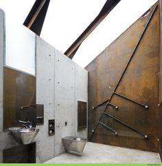 Public toilet design Roadside Reststop Akkarvikodden Manthey Kula Architects
